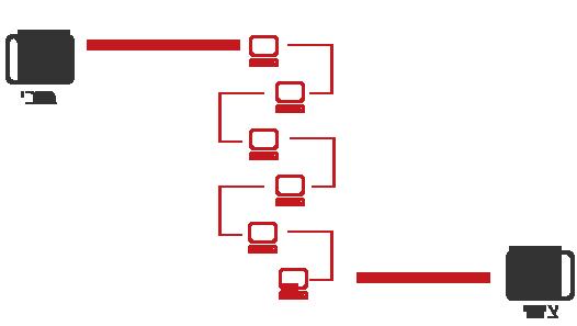 העברה בין ארנקים ברשת מבוזרת כגון ביטקוין
